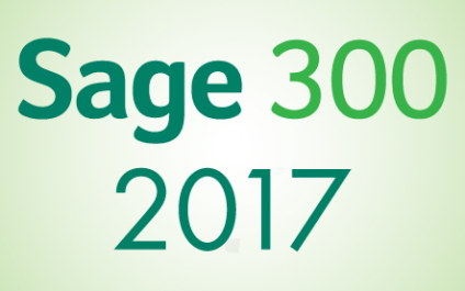 Sage 300 2017 What's New in Classic Screens